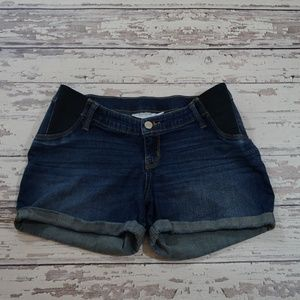 BOGO Liz Lange maternity denim jean shorts